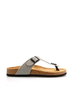 Stříbrné kožené zdravotní žabky EMMA Shoes 38