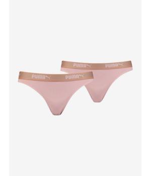Plavky Puma Mesh Bikini 2 Pack Packed Růžová