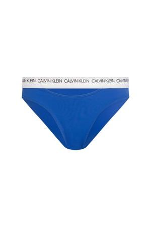 Spodní díl plavek KW0KW00658-CHQ modrobílá - Calvin Klein